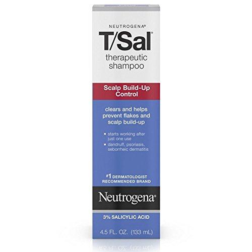 Neutrogena T/Sal Therapeutic Shampoo for Scalp Build-Up Control with Salicylic Acid, Scalp Treatment for Dandruff, Scalp Psoriasis & Seborrheic Dermatitis Relief, 4.5 fl. oz (Pack of 3)