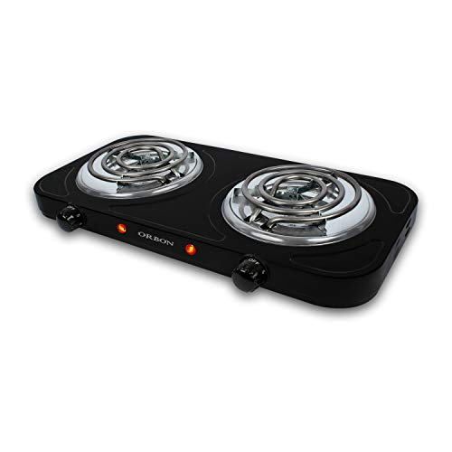 ORBON Double With Temperature Control Knob 1100 Watt + 1100 Watts...