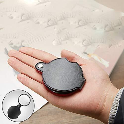 Hclshops Vergrößerungsglas - HD Lupe Folding Alter Mann liest Zeitung Handportable Mini Lupe - Vergrößerung: 10 Mal