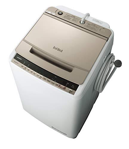 日立 全自動洗濯機 ビートウォッシュ 洗濯容量8kg 本体幅57cm 洗剤セレクト 大流量ナイアガラビート洗浄 BW-V80E N
