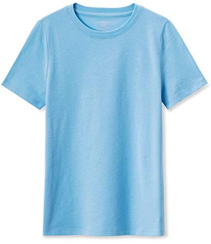 TSLA Kids Youth Running Shirts, Cool Dry Fit Gym Sports Workout Shirts, Athletic Short Sleeve T-Shirts, Short Sleeve(kts02) - Light Blue, XX-Large
