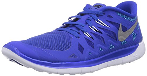 Nike Free 5.0 644428, Unisex Laufschuhe Training, Blau (Lyn Blue/Mtllc Slvr-Bl Lgn-Blk), 35.5 EU