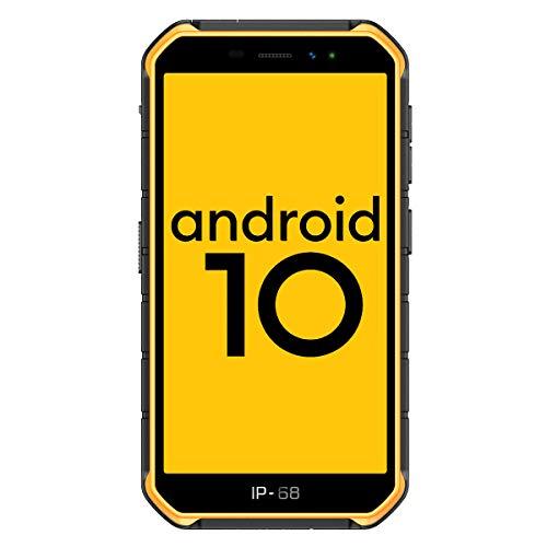 4G Outdoor Handy Günstig Ulefone Armor X7 Pro Smartphone ohne Vertrag Android 10, 5 Zoll Quad-Core 4GB+32GB, 4000mAh, IP68/IP69K Wasserdicht Stoßfest, Dual SIM 4G LTE GPS OTG NFC Face ID-Orange
