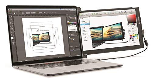 Lexibook x Mobile Pixels - Trio Max 14' Tragbarer Bildschirm für Laptops - Full HD IPS 1080P USB A & C - PC- und Mac-kompatibel - Dual-Monitor-Display mit Rotationsarbeit von zu Hause aus - TRIOMAX