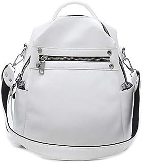 SODIAL Women Backpack Female Shoulder Bag Multi-Purpose Casual Fashion Ladies Small Backpack Travel Bag for Girls Backpack White