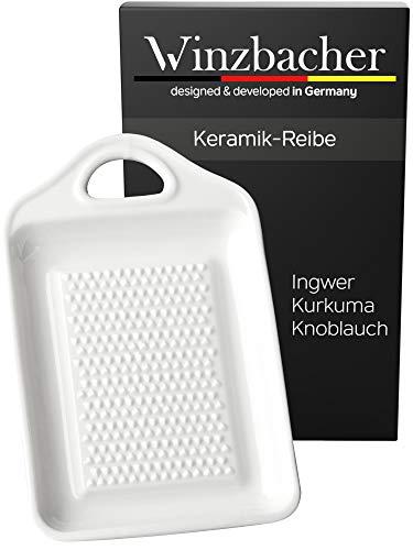 Winzbacher Premium Rallador – de Cerámica para Jengibre y Ajo | Porcelana | Apto para lavavajillas