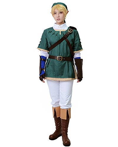 Link Cosplay Costume Green from zelda