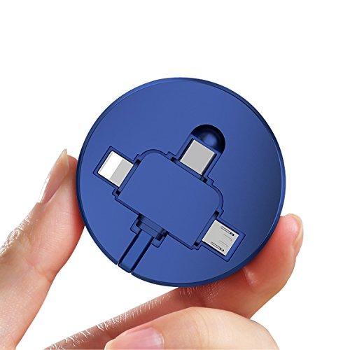 巻き取り 充電ケーブル 急速充電 ライトニング USB充電ケーブル 1.5m delicoco (1.5m, ピンク)