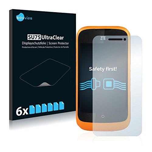 Savvies 6X Schutzfolie kompatibel mit ZTE Open L Bildschirmschutz-Folie Ultra-transparent