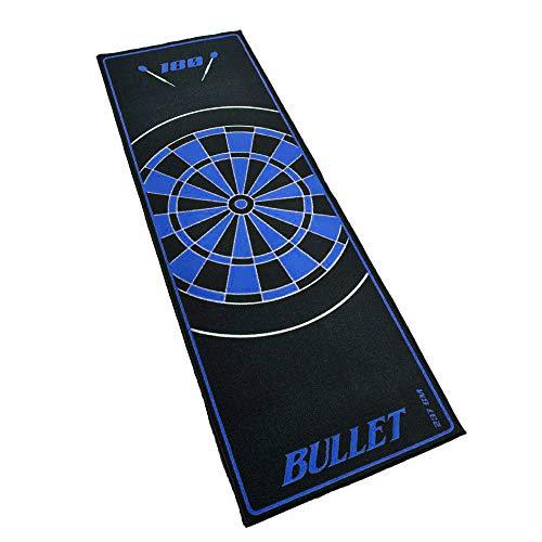 Hochwertige Turnier Dartmatte 237x80cm in Blau