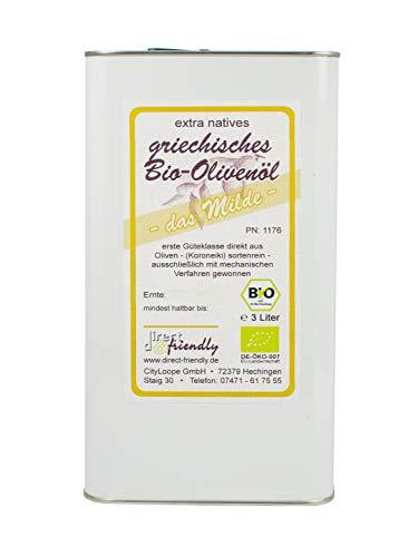 direct&friendly Bio Olivenöl aus der Mani Griechenland im 3l Kanister