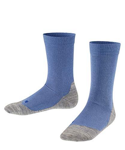 FALKE Kinder Socken Active Sunny Days - Baumwollmischung, 1 Paar, blau (smoky blue 6045), 35-38