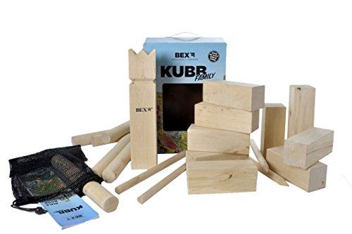 GamePoint VIKING - Kubb (juego sueco, rey de 30 cm, madera)