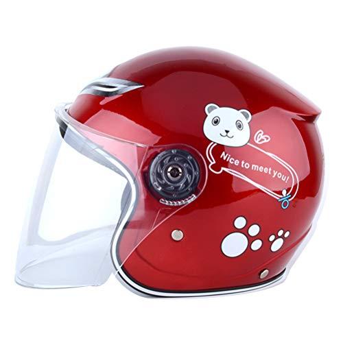 Casco de bicicleta para niños, ergonómico, cálido, resistente al viento, casco de moto, para niños, niñas, equipo de protección para BMX, ciclismo y patinete