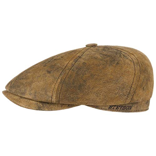 Stetson Lanesboro Leder Schildmütze Ledercap Antikleder (M (56-57 cm) - braun)