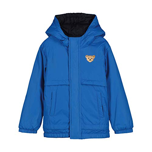 Steiff Wendejacke Jacket, Bleu (Skydiver 6040), 12 Mois Fille