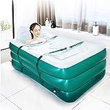 Bañera inflable portátil, baño familiar WEYFLY, piscina independiente, plegable, duradera y con gran respaldo, fácil de inflar e ideal para uso en interiores y exteriores.