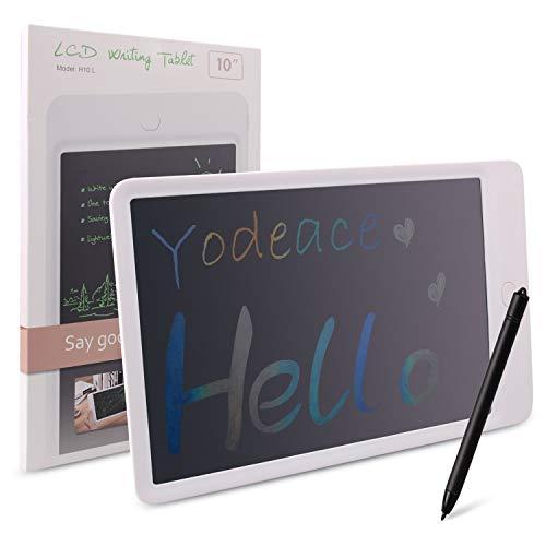 Tavoletta Grafica LCD Scrittura Digitale, Yodeace Elettronica 10 Pollici Tavoletta LCD da Disegno colorato con Stilo, Portatile eWriters Ufficio Memo Tablet Bambini Boogie Board