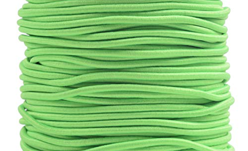 KONMAY 1 Roll 109 Yards 1.0mm Neon Green Elastic Stretch Beading Cord Elastic String for Beading, Jewelry Making, Crafting, Clothing