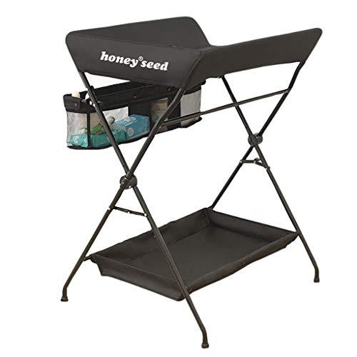 Table à Langer pour bébé Table de Traitement de Massage Pliable Multifonctions Art de Tableau de Contact néonatal de Fer Art Noir/Vert / Gris Trois Couleurs