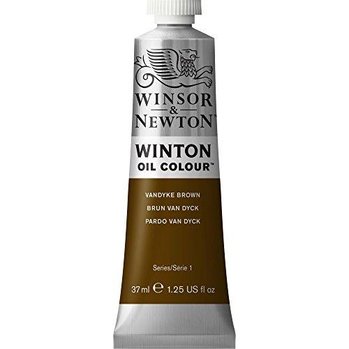 Winsor & Newton 1414676 Winton, feine hochwertige Ölfarbe - 37ml Tube mit gleichmäßiger Konsistenz, Lichtbeständig, hohe Deckkraft, Reich an Farbpigmenten - Vandyke Braun