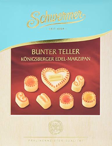 Schwermer Bunter Teller - Königsberger Edel-Marzipan - Geschenkpackung, 8er Pack (8 x 160 g)