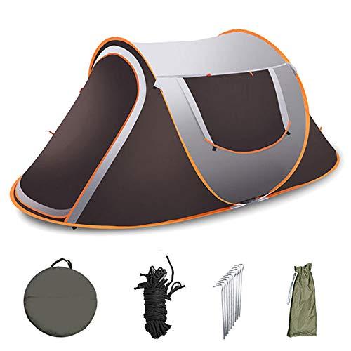 DOLA Pop Up Campingzelt, Tragbares Familienzelt im Freien für 3-4 Personen, Wasserdichtes Winddichtes Zelt mit Trennmarkise,S