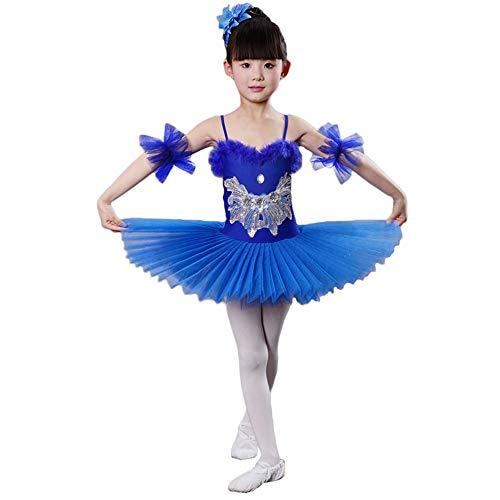 Children's wear Costumi per Balletto per Bambini, Gonna in Filato per Abito da Ballo Costumi Adatti per spettacoli di Festival per Bambini, Abito Adatto per Ragazze con Un'Altezza di 115-160 cm