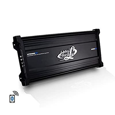 Lanzar Amplifier Car Audio, 4,000 Watt, 6 Channel, 2 Ohm, Bridgeable 4 Ohm, MOSFET, RCA Input, Bass Boost, Mobile Audio, Amplifier for Car Speakers, Car Electronics, Wireless Bluetooth