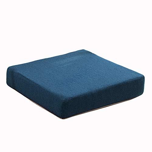 Cojín de asiento para silla de comedor, cojín grueso para silla de oficina, hogar, antideslizante, colorido cuadrado, cojín para silla de jardín (azul, 45 x 45 x 5 cm)
