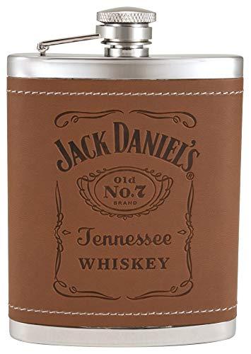 Jack Daniels Licensed Barware 5551 Label Trinkflasche, edelstahl, silber