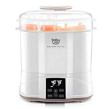 BABY JOY Baby Bottle Electric Steam Sterilizer 3-in-1 Modular Electric Dryer Machine Milk Warmer with Large Capacity Temperature Control LED Monitor