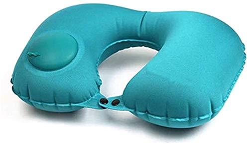 KEEBON Almohada de Viaje, Almohadas livianas y portátiles de Cuello, Almohadas de Cuello Inflable de Tipo Transpirable y cómodo for Aviones, automóviles y hogares (Azul)