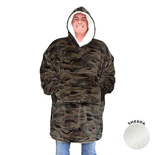 COMFY   The Original Oversized Sherpa Blanket Sweatshirt, Seen On Shark Tank, One Size Fits All