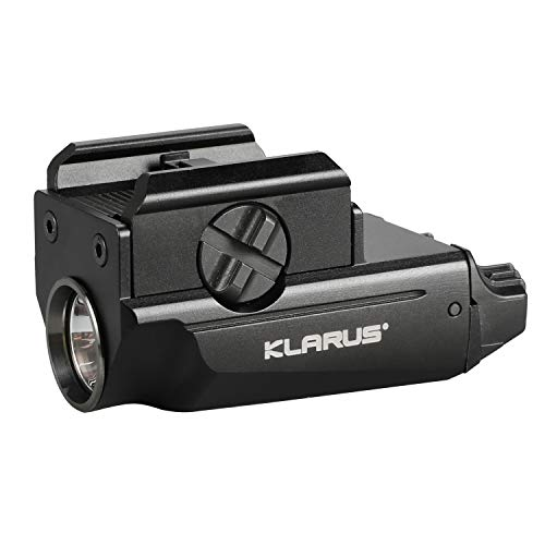 klarus GL1 Rail Mounted Compact Pistol Light, 600 Lumens USB Rechargeable Tactical Weaponlight, Compatible with Glock and 1913 Rail, Powered by Built-in Polymer Battery