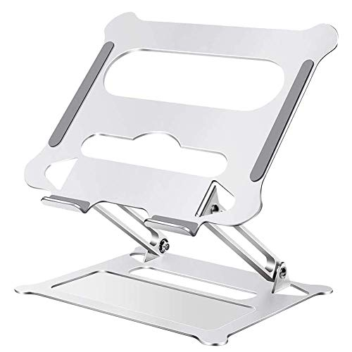 RINBO Laptop Stand,Ergonomic Universal Foldable Adjustable Multi-Angle Laptop Riser,Durable Stable with Heat Conduction Protective Design,Multi-use in Many Occasions,for 10-17' PC Notebook Tablets