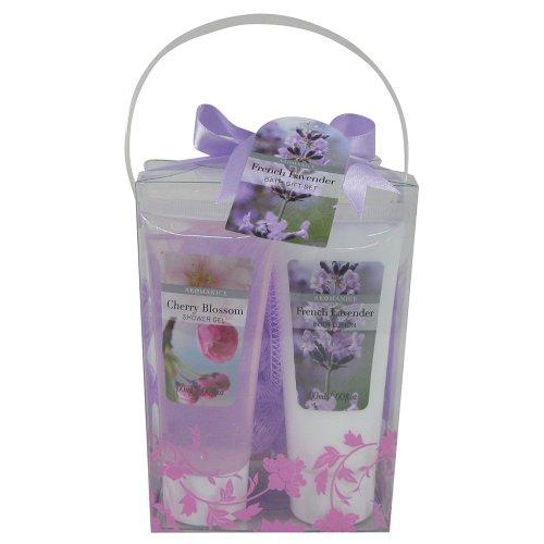 Gloss! Flower - Cesta de baño regalo, lavanda y cereza
