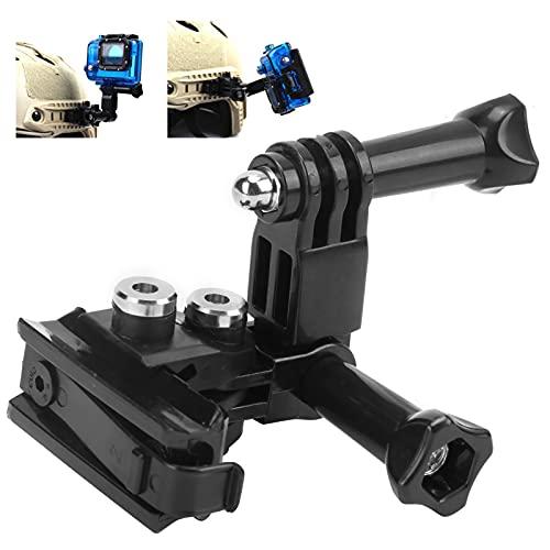 GUSTAR Staffa per Telecamera su Guida per Casco, Forte praticità Supporto per videocamera su Guida per Casco Multi-Angolo per Hero123456 per