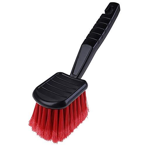 Heigmzxs - Spazzola per scarpe, 1 spazzola per auto con setole rosse + manico nero, per pulizia automatica dei dettagli del motociclo (colore A)