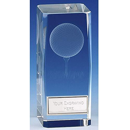 Golfball-Block, personalisierbar, mit Gravur, 4 1/2 Inch (11.5cm)