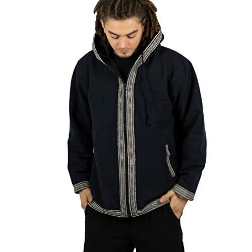 KUNST EN MAGIE Unisex katoenen jas met fleece voering en capuchon
