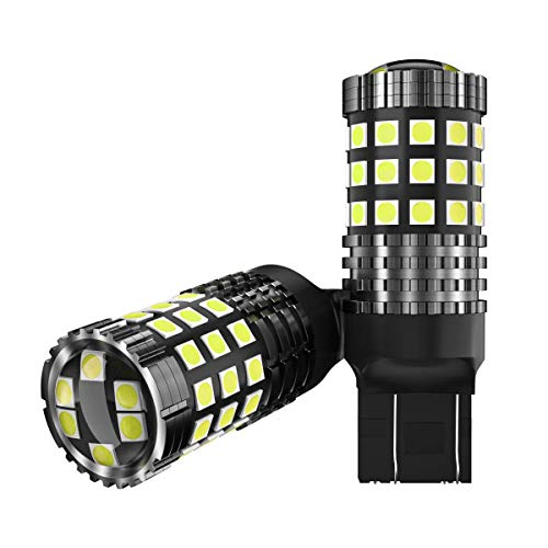 2pcs 7443 W21/5w Lampadine LED per Auto Moto luce retromarcia di backup luce posteriore luce freno Luce segnaletica 3030 45SMD 12V 24V Bianca 6000K
