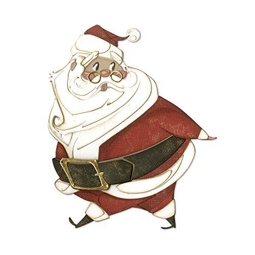 Sizzix Set di Fustelle Thinlits 11Pz Babbo Natale Allegro, Multicolor, taglia unica