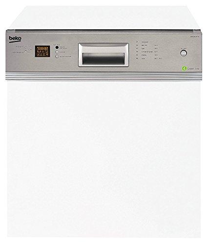 Beko DSN 6634 FX Teilintegrierbarer Geschirrspüler / A++ / 261 kwh/Jahr / 10 L / 59.8 cm / Silber / Wasserstopp / Edelstahl-Blende / Einbau / Lieferung ohne Möbelfront