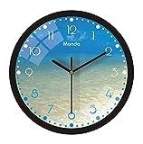 cbvdalodfej Reloj de Pared Decorativo Luminoso de 12 Pulgadas LED Brillante silencioso Reloj de Pared grandediseño Sala de Estar Dormitorio decoración nórdica del hogar 12 Pulgadas