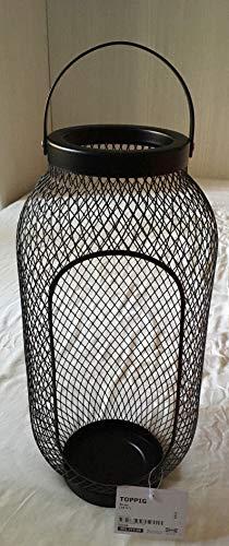 Ikea TOPPIG Windlicht in schwarz; (49cm)