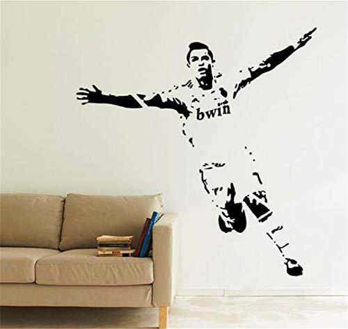 Wandaufkleber 3D Wandtattoo Wohnzimmer Cristiano Ronaldo Tor Feier Fußballer Stars Sport Wandkunst Aufkleber Wandbild Für Jungen Schlafzimmer Wandtattoo Schlafzimmer Wandaufkleber Schlafzimmer