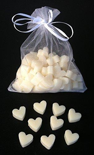 Florex Schafmilchseife mini mini Herz 50 Stück Natur im Organzasäckchen Seife Gastgeschenk