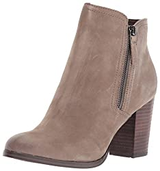 A picture of Aldo grey heeled boots.