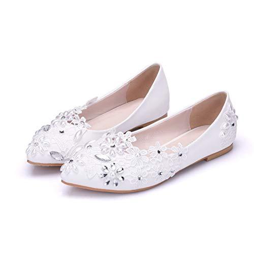 AORISSE Zapatos De Novia para Mujer, Zapatos De Boda De Perlas De...